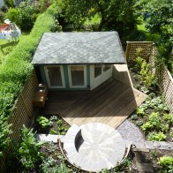 Complete overview of the garden style and its colour. Aidan Turner garden designs. Sheffield U.K.