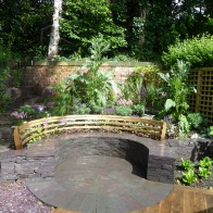 The finished article. A garden designed and built by Aidan Turner, Sheffield U.K.